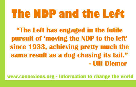 Ulli Diemer: The NDP has engaged in the futile pursuit of moving the NDP to the left since 1933